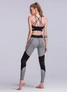 Сексуальные женщины Контраст Сплайсинг Спортивные поножи Йога Запуск Тощий тонкий Колготки