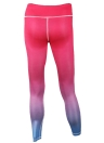 Мода Женщины Градиент Цвет Спорт Высокие талии Йога Леггинсы