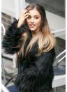 Faux Fur Coat Long Sleeve Fluffy Outerwear Short Jacket Hairy Warm Overcoat