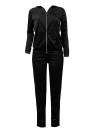 Kapuzen-Hoodie-Hosen-Reißverschluss-elastische Taillen-beiläufige Sportkleidung-Spitzen-Hose
