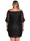 Spitzenkleid Plus Size Schulterfrei Bodycon Minikleid Oversize Party Clubwear