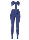 Sexy Strapless Bandage Bodycon Club trajes de dos piezas Set