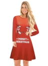 Women Christmas  Cartoon Santa Reindeer Dress