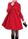 Swing Coat Turtleneck Manica lunga inverno Spessore cappotto Trench Coat Overcoat