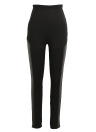 Sexy Women Slim Leather Splice Elastic High Waist Cool Skinny Pencil Leggings