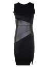 Vestido de festa New Celebrity PU Leather Sleeveless Women Party