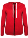 Mode Frauen Solid Zip UP Sweatshirt Mantel
