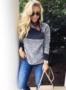 Mode Frauen Fleece Langarm Sweatshirt