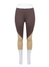 Women Sports Leggings Color Block High Waist Running Tights  Skinny Pants