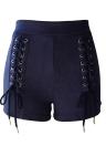 Nouveau Sexy Femmes Faux Suede Lace-Up Bandage taille haute Shorts
