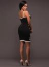 Mini vestido a rayas sexy con estampado de rayas de mujer