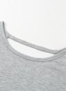 Frauen Crochet Shirt mit langen Ärmeln aushöhlen Spitze lose beiläufige Pullover Top Backless T-Shirt