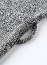 Winter Women Knit Cross Belted O-Neck Long Sleeve Knitted Mini Sweater Dress