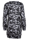 Women Camo Hoodie Pullovers Casual Long Sleeves Sweatershirt