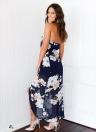 Sexy Women Halter Floral Print  Dress