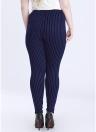 Pantaloni aderenti a vita alta con elastico in vita