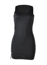 Women Lace Up Bodycon Dress Tank Party Club Mini Dress