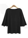 Women Batwing Sleeve  Plus Size O Neck 3/4 Sleeve T-Shirt