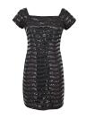 Платье коктейльное из бисера с коротким рукавом с коротким рукавом