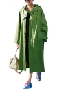 Moda Mulheres Casacos com capuz Trench Long Sleeve Solid Street Outerwear Long Coat