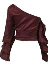 Women Casual Satin One Shoulder Top Blouse Shirt