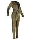 Mono de catsuit con lentejuelas metálicas mujer sexy