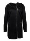 Mulheres Casual Zip Up Hoodie Manga comprida Bolsos Sweatshirt Coat