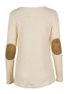T-shirt a maniche lunghe con scollo a V profondo da donna
