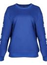 Mode Femmes O Cou À Manches Longues Pull Plus La Taille Lâche Sweatshirts
