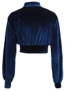 Mulheres Crop Top Velour Solid High Turtle Neck Drop Shoulder Long Sleeve Blusa Casual
