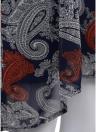 Vestido sin mangas de gasa sin mangas de las mujeres Vestido sin mangas de Paisley de la impresión del vintage con cremallera drapeada