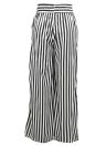 Femmes Pantalons Strass Contraste Imprimer Haute Taille Droite Large Jambes Bow Tie Casual Pantalon Party Wear