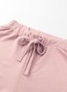 Conjunto de dos piezas de mujer con volantes, pantalón corto, pantalones largos, o-cuello, mangas largas, cordón, ropa deportiva casual, pantalón de copa