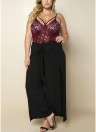 Pantaloni larghi a vita bassa Pantaloni larghi a vita bassa Pantaloni larghi a vita laterale Donna Taglie larghe Pantaloni laterali larghi