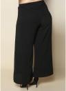 Women Plus Size Wide Leg Pants Side Split Tie High Waist Casual Loose Trousers Long Culottes Pants