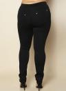 Las mujeres de la manera más el tamaño sólido lápiz pantalones bolsillos elásticos de la cintura delgados pantalones cortos ocasionales breves