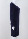 Сексуальное платье для тела Bodycon Платье с длинным рукавом с длинным рукавом с застежкой-молнией