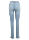 Las mujeres rasgaron los pantalones vaqueros Bodycon Denim Destroyed Frayed Hole Casual Pants