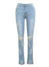 Mulher Ripped Jeans Bodycon Denim Destroyed Desfocado Hole Casual Pants