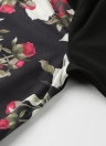 Mode Femmes Floral Print Veste Manteau Zipper Long Sleeve Pocket Bomber Veste