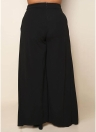 Sexy Women Tamanho grande Calças largas com pernas altas Split Casual Loose Solid Long Pants Plus Size Trousers