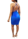 Sexy Women Sequin Glitter Bodycon Vestido Sheer Mesh Sleeveless Backless Night Party Dress