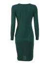 Платье с длинным рукавом с длинным рукавом для женщин с длинным рукавом