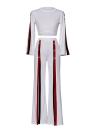Moda 2 piezas de ropa conjunto de mujer superior y lateral de Split pantalones Traje Ladies Sexy chándal