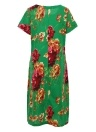 Floral Print O-Neck Short Sleeve Casual Loose Retro Midi Dress