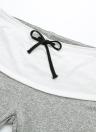 Pantalones de mujer con cordones de cintura alta, cintura ancha, pierna holgada suelta Pantalones de yoga casuales Palazzo