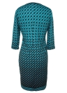 Women Plus Size Dress Houndstooth O-Neck Pencil Party Dress Ladies Bodycon Slim Casual Vestidos