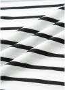 Tunique à rayures en tricot à rayures