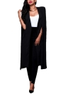 Moda, Mulheres Cloak Cape Split Slim Office OL Suit Solid Long Blazer