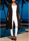 Mode, Femmes Cape Cape Slim Bureau OL Costume Solid Long Blazer
